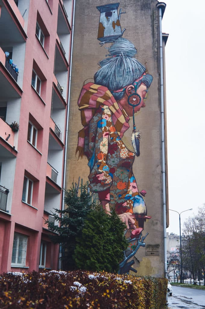 Primavera mural by Sainer in Lodz, Poland