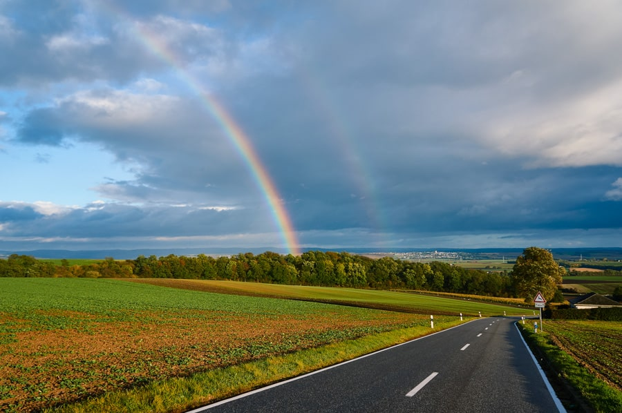 Chasing rainbows in Germany.