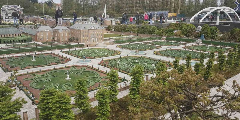 Miniature version of the Het Loo Palace in Madurodam in Den Haag, the Netherlands