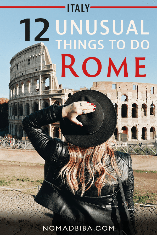 Unusual Things to Do in Rome Pin